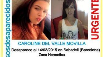 La familia de Caroline del Valle sigue buscándola