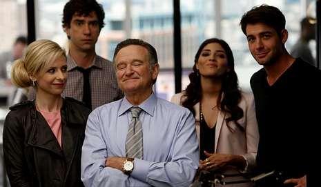 Robin Williams en el estreno de su última serie.