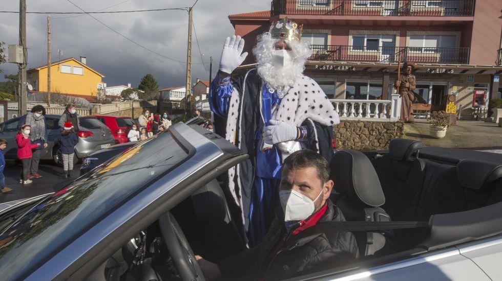 Reyes Magos, en Cee, a su paso por Lires