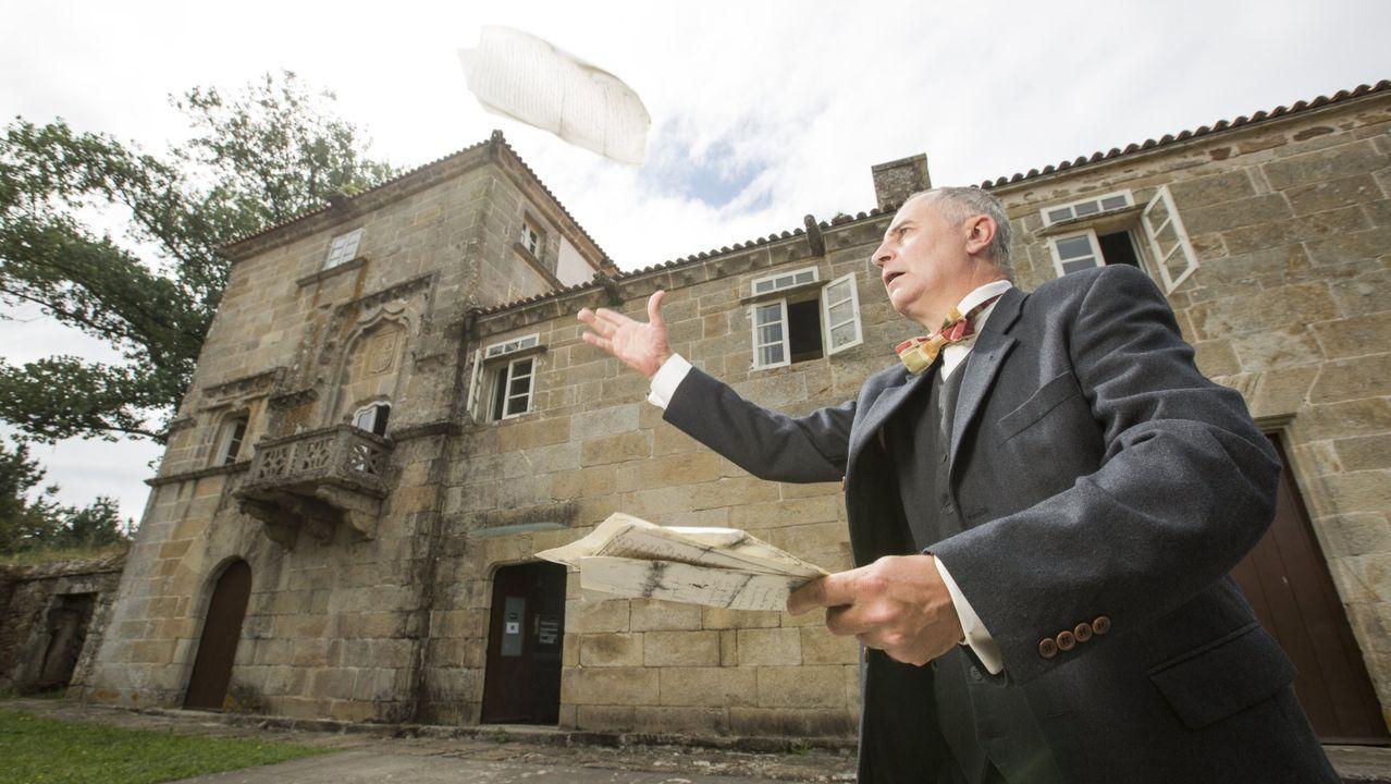 Ya llegan los peregrinos.Imagen del juicio por la propiedad del pazo de Meirás, que comenzó este lunes en A Coruña