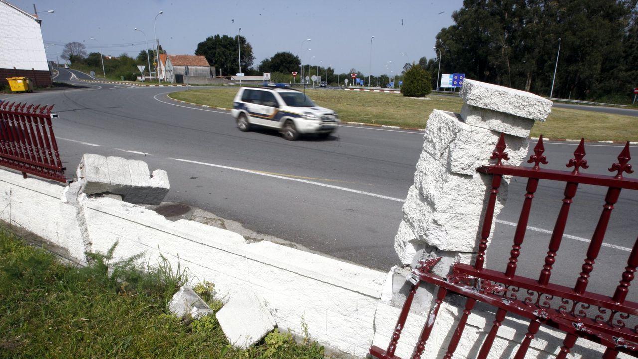 Accesos de la A-8 en Vilalba