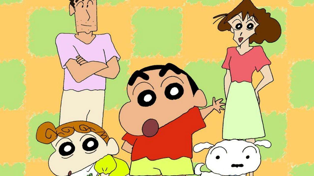Shin Chan y su familia