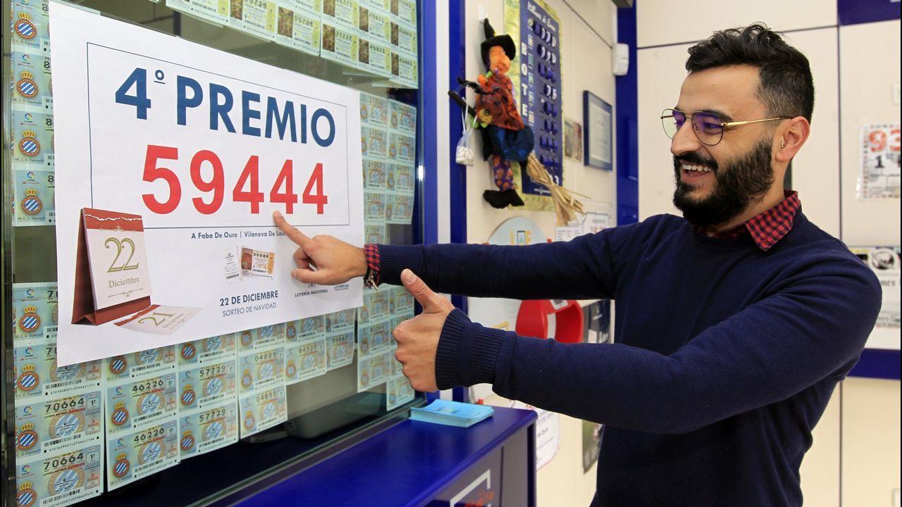 Quinto premio en Vilanova en la administración de Vilanova.Sorteo de Loteria de Navidad