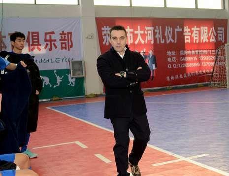 Thurman, protagonista del calendario Campari.El técnico ferrolano de fútbol sala decidió marcharse a China en el pasado mes de octubre.