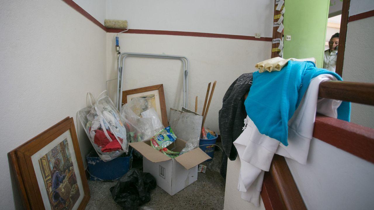 Rellano del domicilio en donde vivía el bebé
