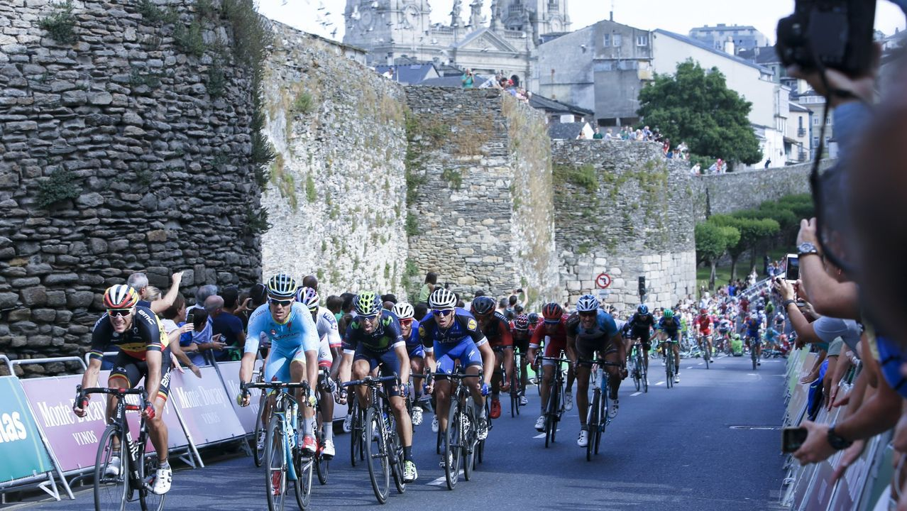 El 24 de agosto del 2016, la Muralla volvía a ser escenario de final de etapa de La Vuelta, como en 1982 y 1985