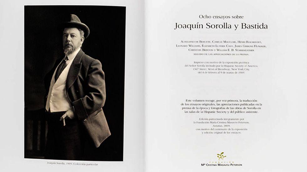 Dos páginas del facsímil de los «Eights Essays on Joaquin Sorolla y Bastida» de la Hispanic Society