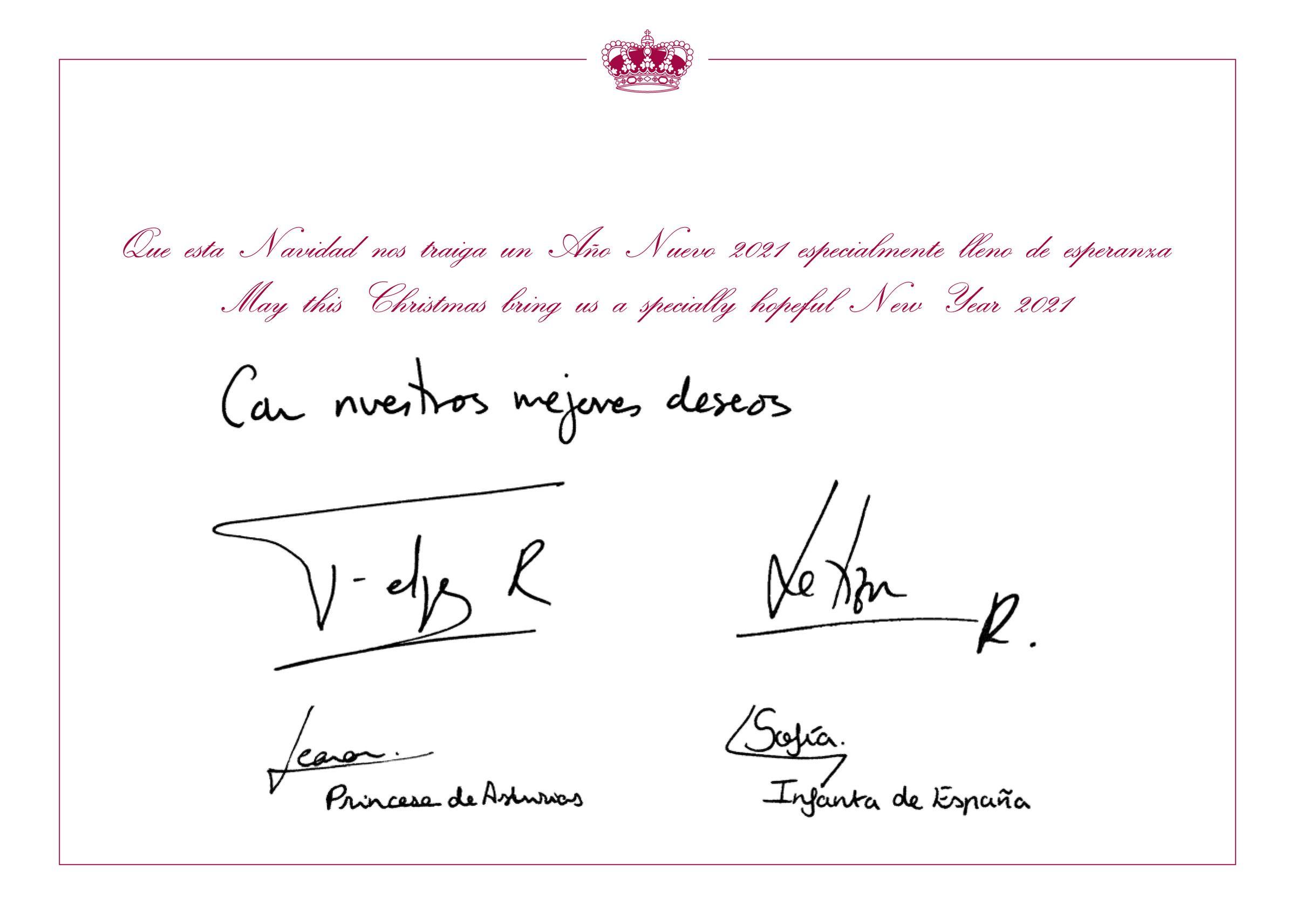 Felicitación de Navidad de Sus Majestades los Reyes