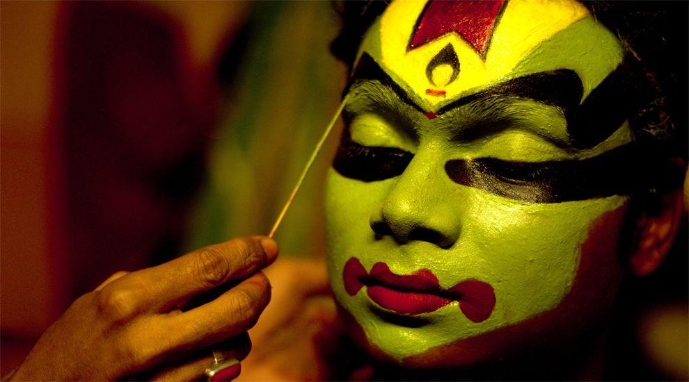 El «Kathakali», una forma de teatro mudo de Kerala para un insólito «Quijote».Ryan McGarvey