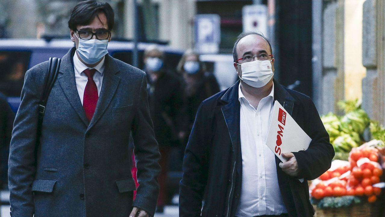 ¿Quién es quién en las elecciones catalanas?.Salvador Illa y Miquel Iceta, en una imagen de archivo
