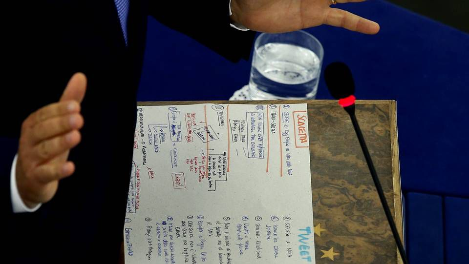 Las notas de Matteo Renzi.
