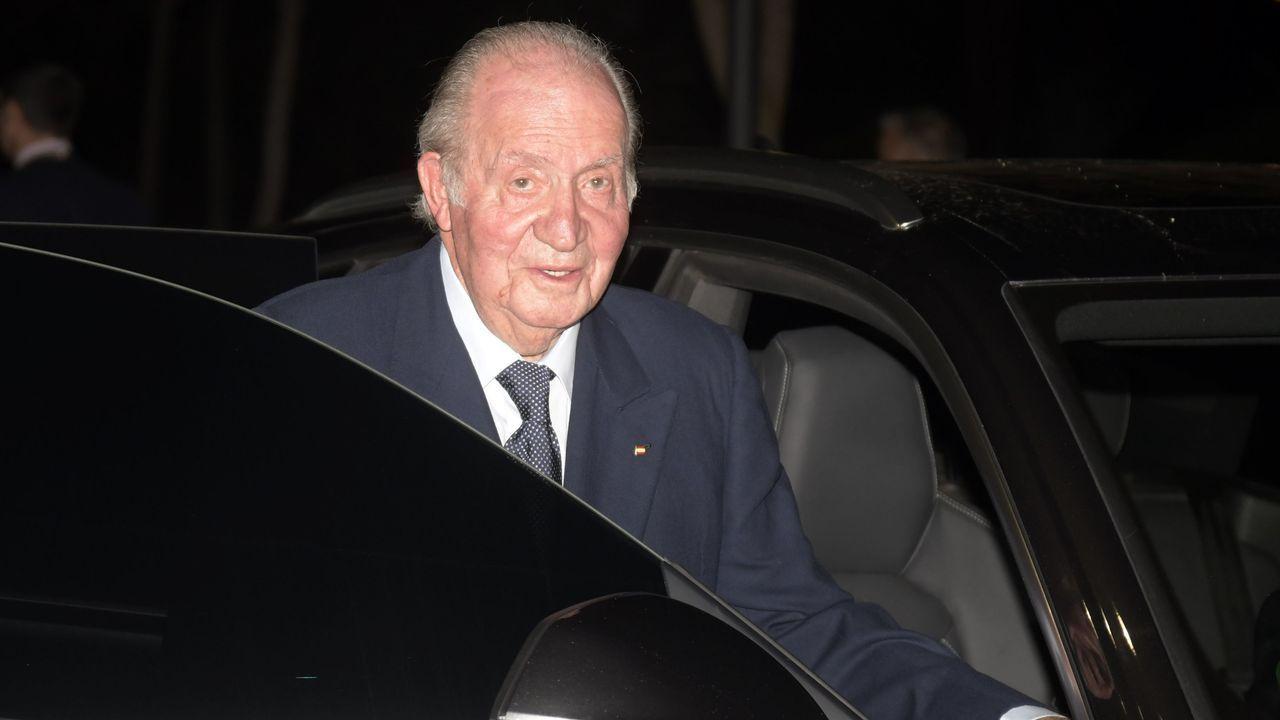 EN DIRECTO: mensaje del rey Felipe VI.Don Juan Carlos, el pasado febrero en Madrid