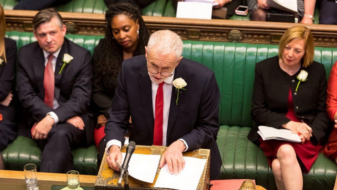 Sus señorías llevan sentadas más de 300 días. El líder laborista, Jeremy Corbyn, en una de las sesiones del eterno debate sobre la salida del Reino Unido de la Unión Europea