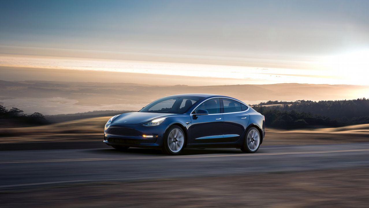 Fotografías del nuevo Model 3 de Tesla
