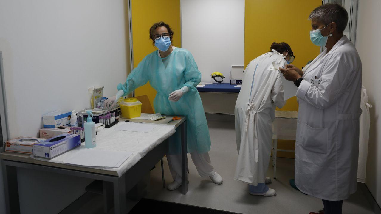 Personal del Hospital Público da Mariña, de Burela, lleva más de una semana analizando muestras de pacientes con coronavirus o sospechosos de tenerlo
