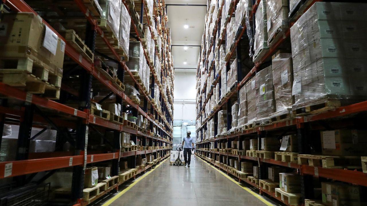Dosis de Pfizer almacenadas en Santiago de Chile