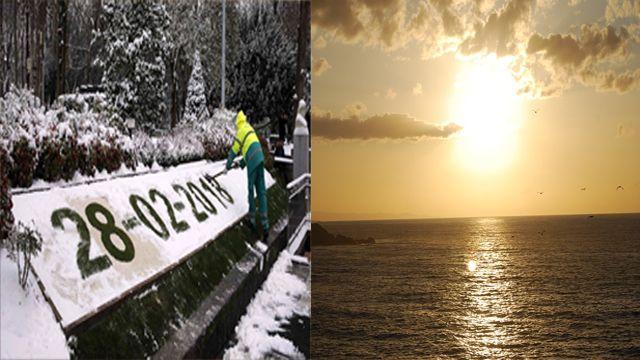El loco cambio del tiempo en Asturias en un solo año