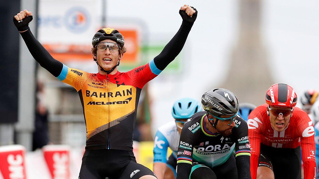 Las carreteras más bonitas de España.Iván García Cortina, ganador de la tercera etapa en París-Niza