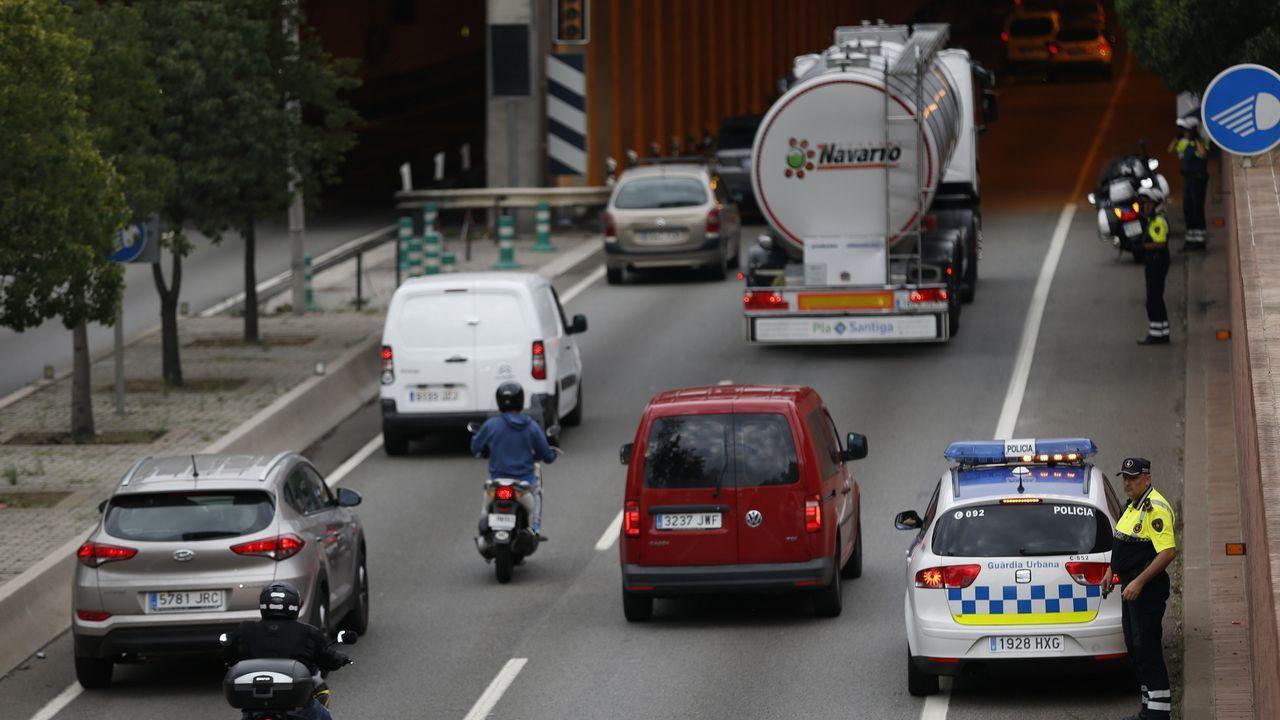 Huelga en Cataluña. Carreteras cortadas