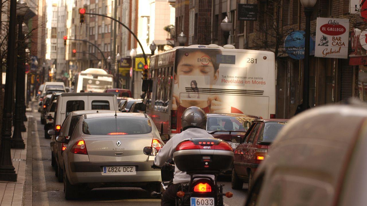 Atasco en Gijón