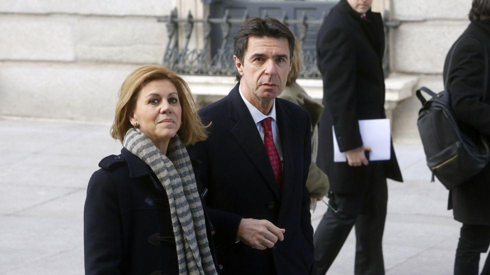 Cangas, más allá de Tintín.Soria, entrando en el Congreso el pasado mes de febrero