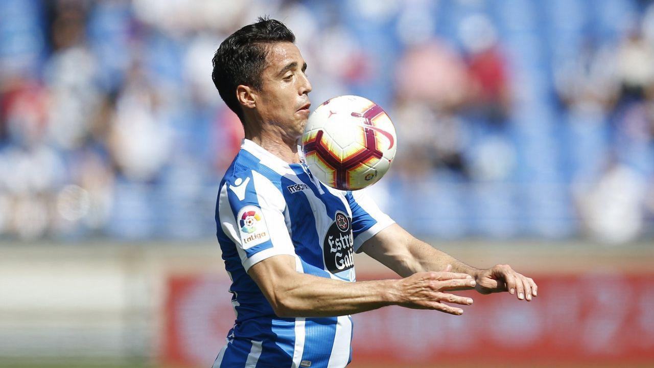 Pacheta Real Oviedo Elche.Pacheta, durante el encuentro ante el Real Oviedo
