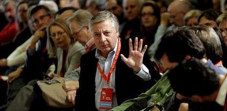 José Blanco saluda durante el comité nacional del PSdeG celebrado en noviembre del año pasado.