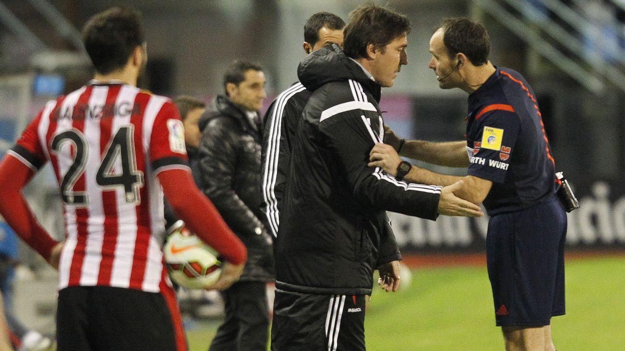 Berizzo, en un partido frente a su nuevo club cuando entrenaba al Celta