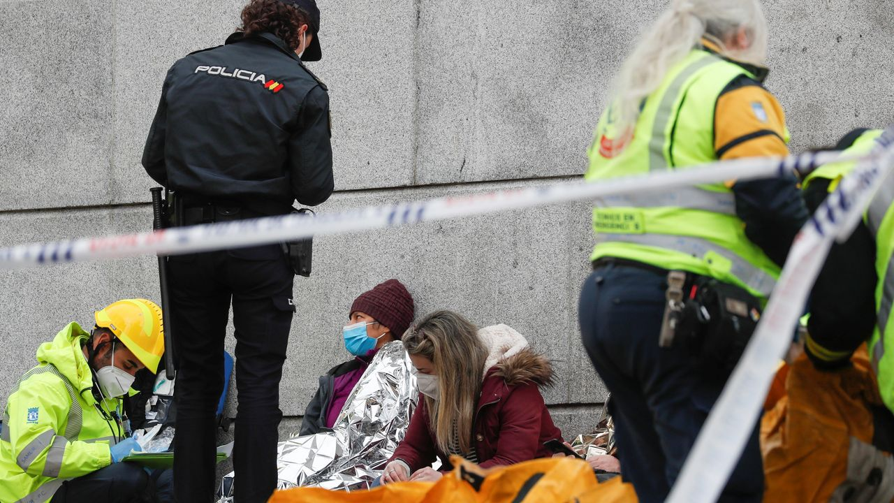 Explosión de gas en Madrid