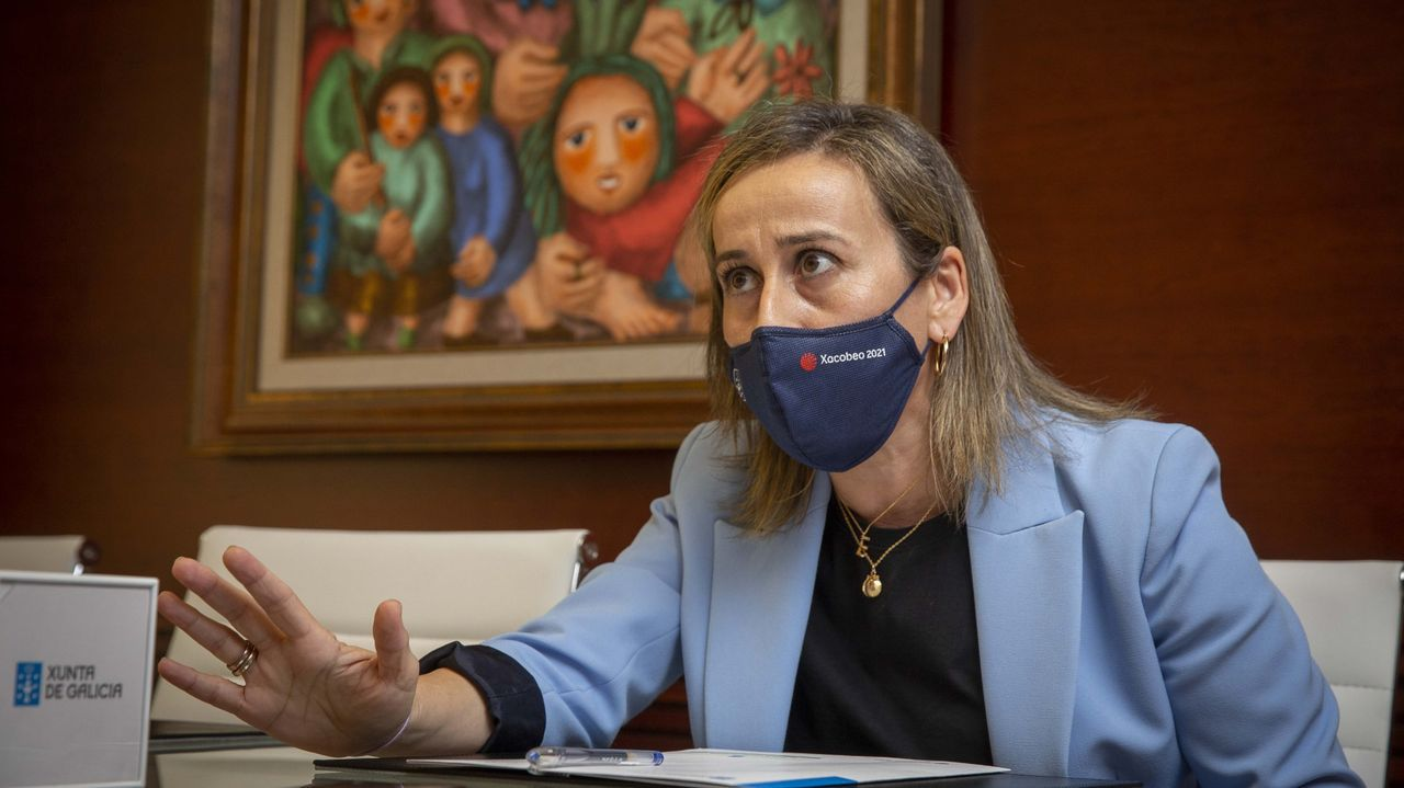 En marcha la ampliación del Ifevi en Vigo.La conselleira Ethel Vázquez