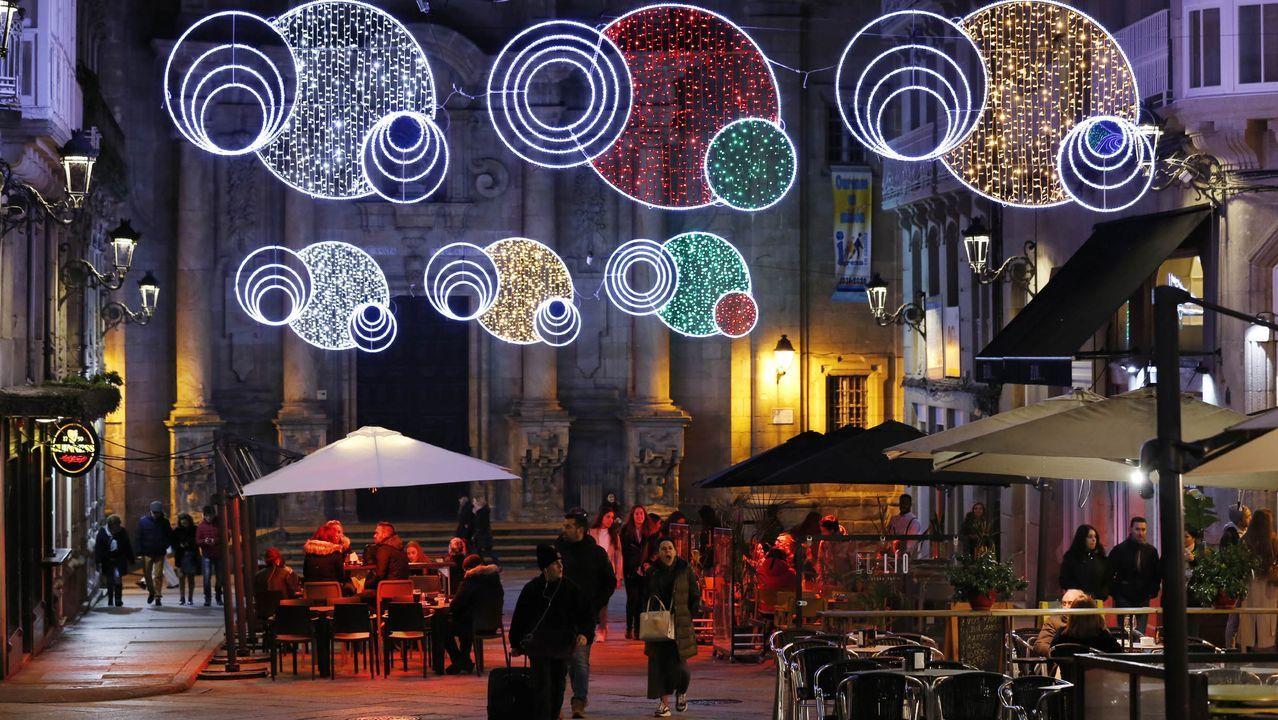 Iluminación instalada en Ourense en las últimas Navidades