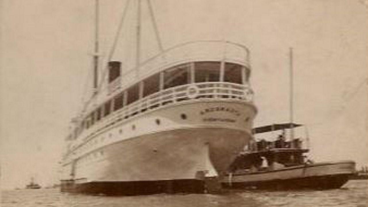 Imagen del apresamiento del buque mercante Argonauta