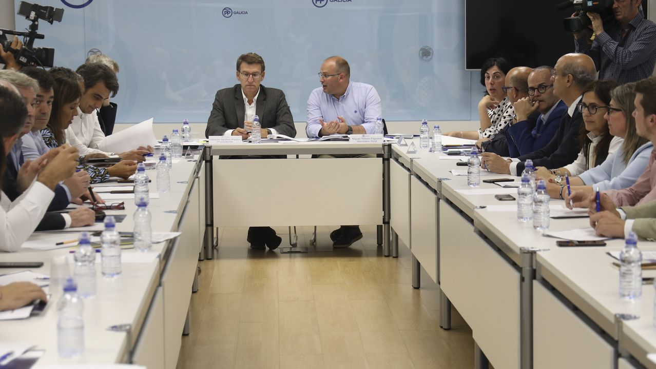Feijoo, en una reunión de la dirección del PPdeG