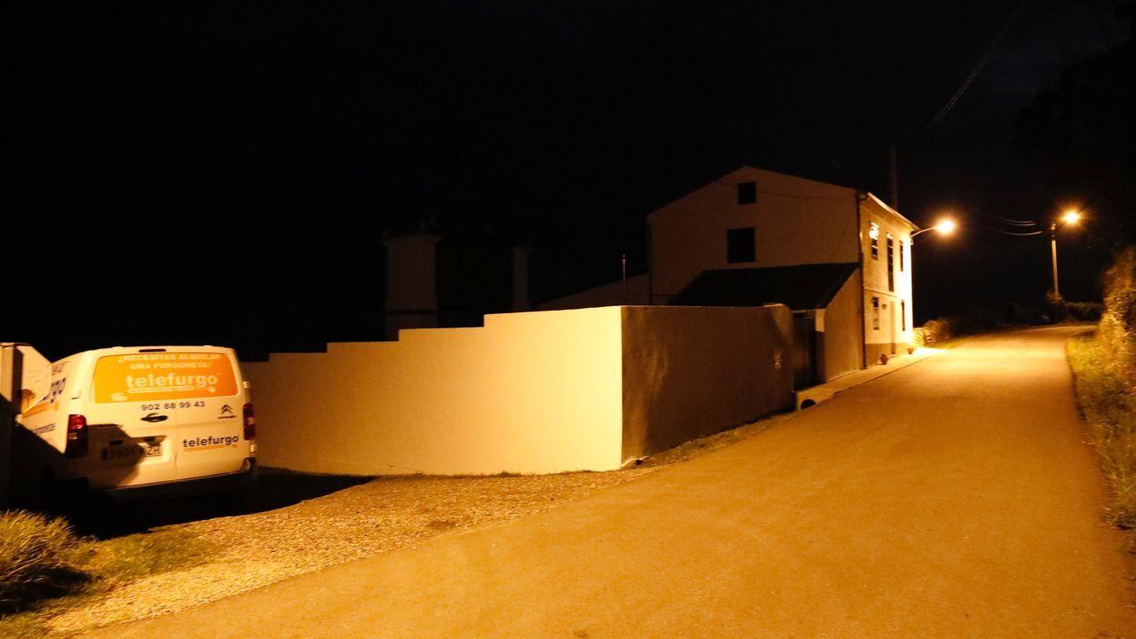 Casa de alquiler en Piñeira donde la Guardia Civil decomisó la media tonelada
