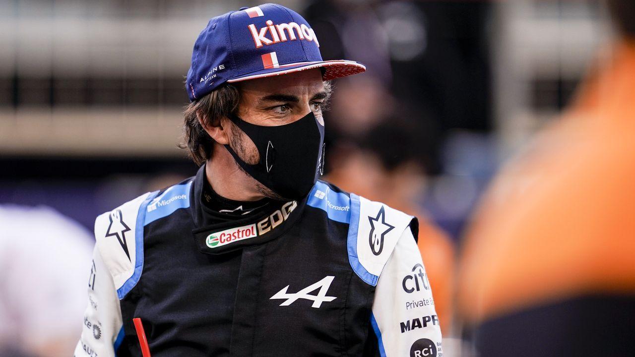 Fernando Alonso en Portugal.Fernando Alonso