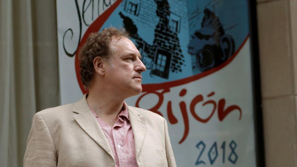 El escritor Simon Scarrow, en la Semana Negra de Gijón