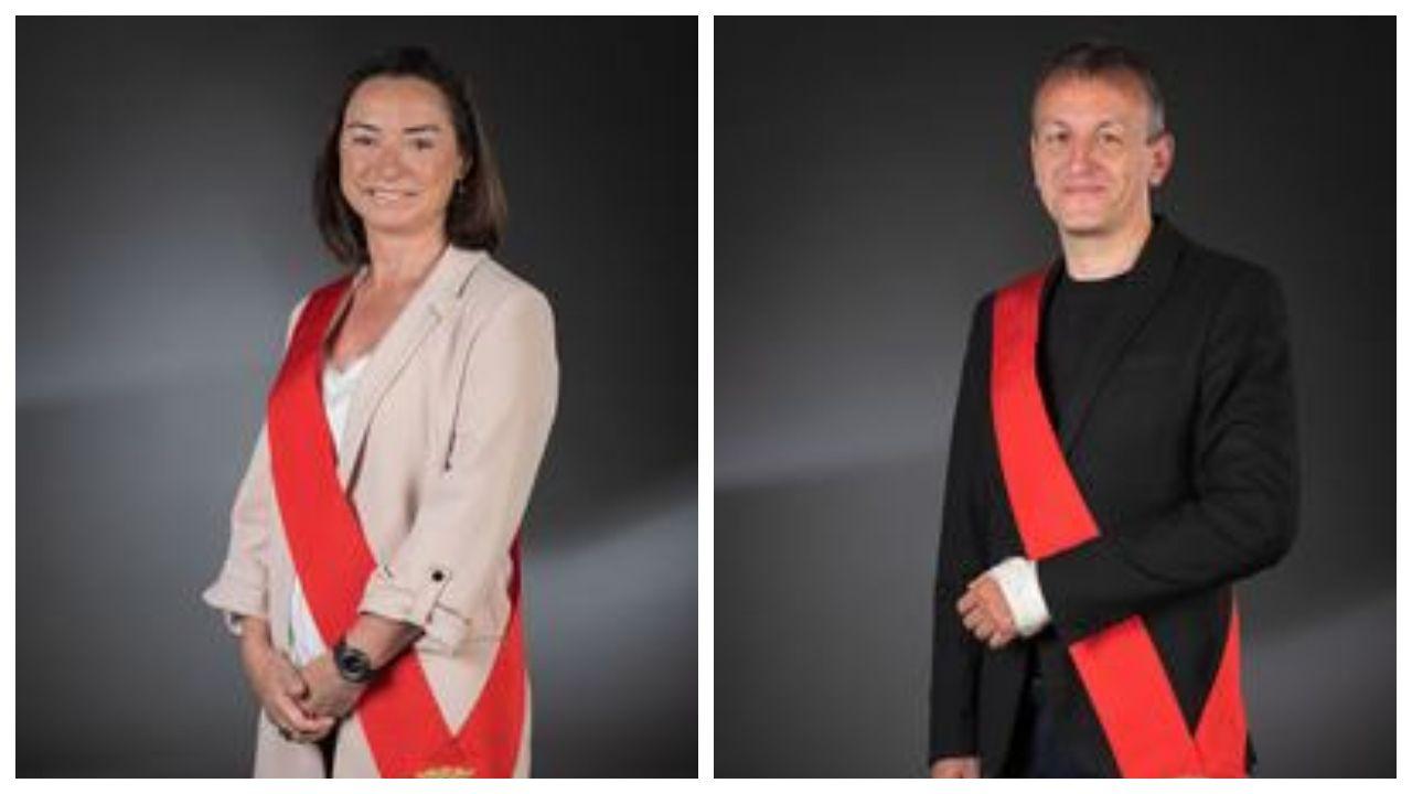 Carmen Rouco y Fernando Rivarés, fotos oficiales del Ayuntamiento de Zaragoza