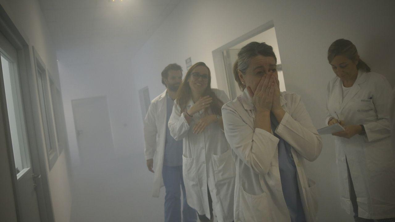 Así fue el simulacro en el Clínico.Imagen de archivo de un incendio forestal