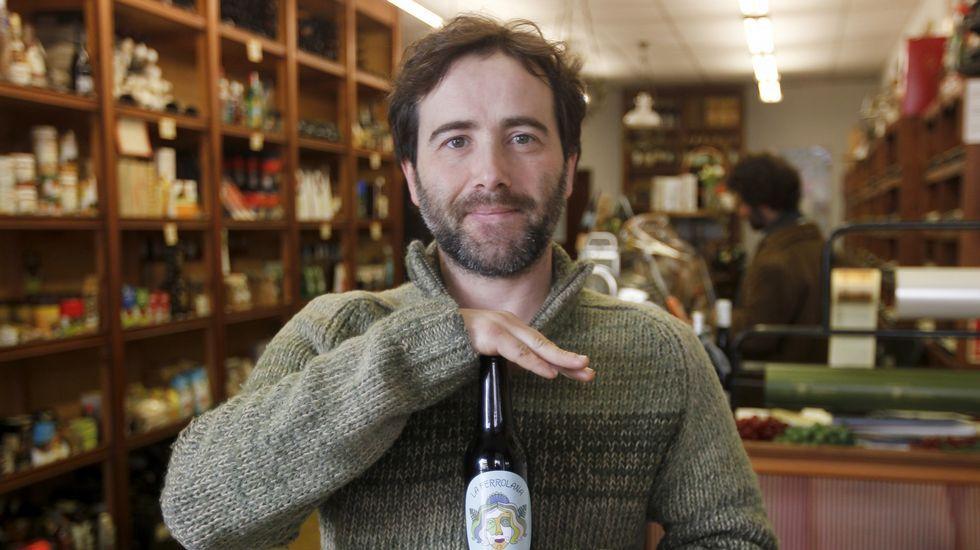 Alberto Castro fabrica la cerveza La Ferrolana