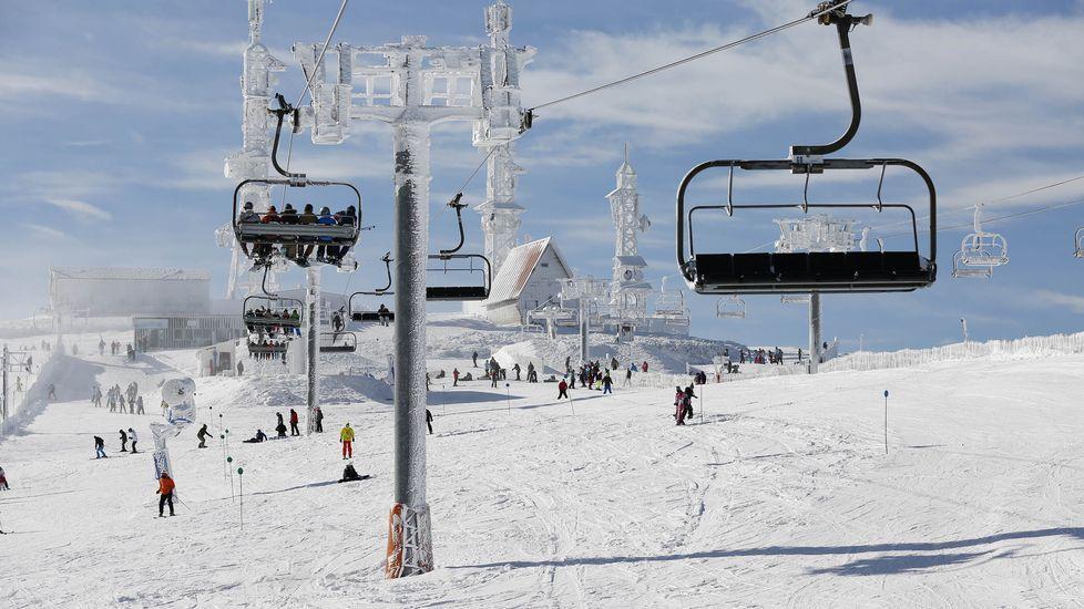 mamut.Así está la estación de esquí en la mañana de Navidad