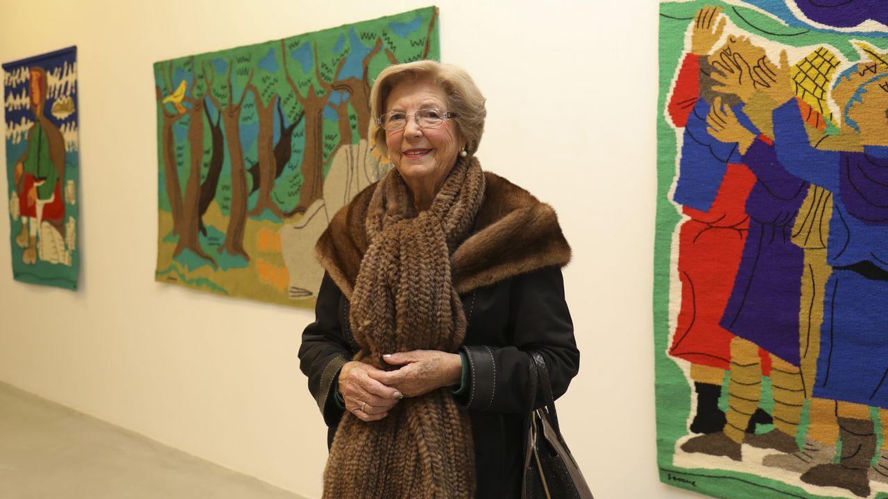 María Elena Montero, tejedora que elaboró tapices para las creaciones de Luis Seoane