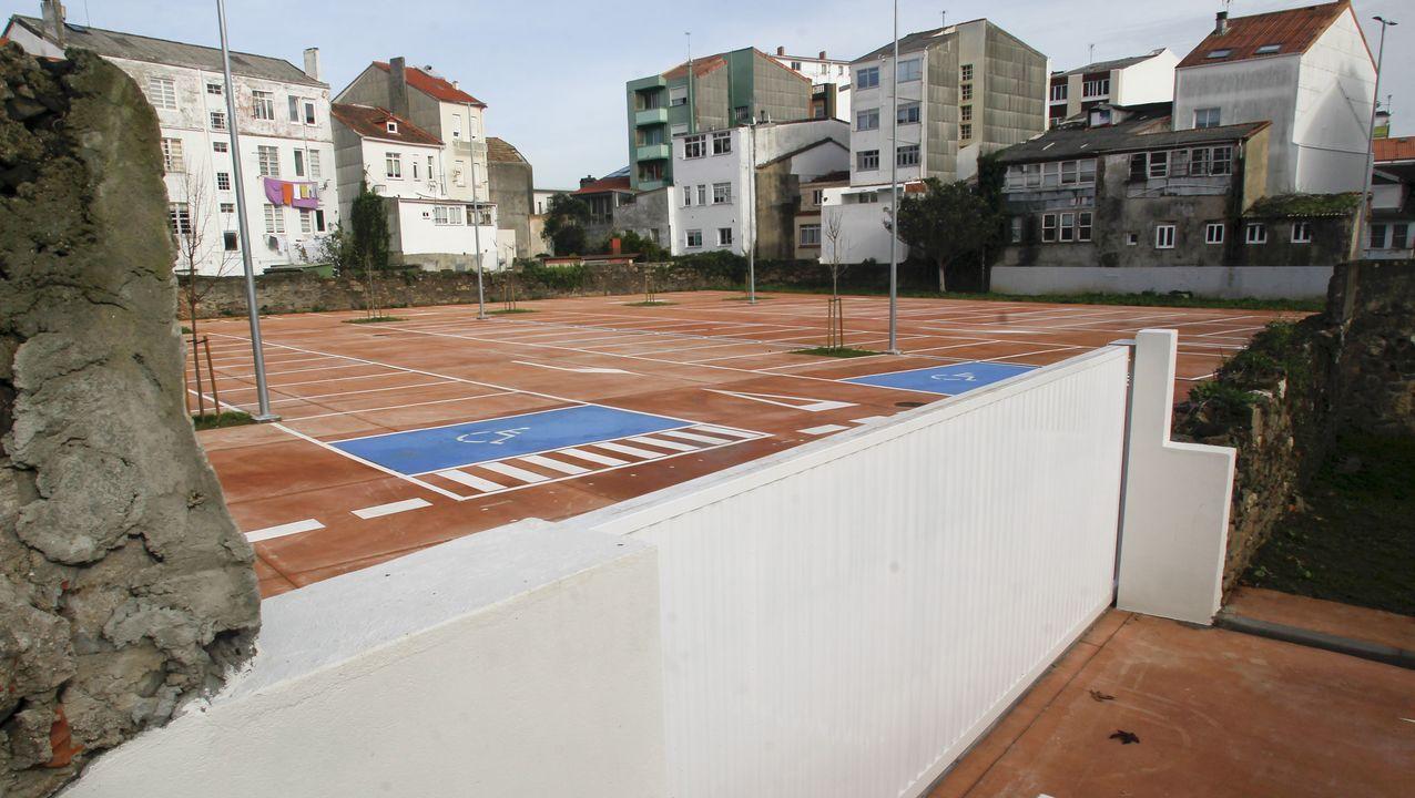 En la imagen, el nuevo aparcamiento de Canido, que empezará a funcionar la semana que viene