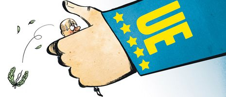 Baltar UE 2.Técnicos de la Dirección General de Agricultura de la Comisión Europea y la comitiva de productores, docentes de la USC y políticos del BNG