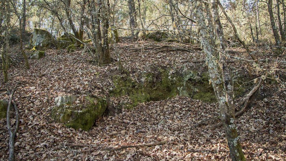 El castro de Vilamaior está muy alterado por la agricultura y el reaprovechamiento de sus piedras