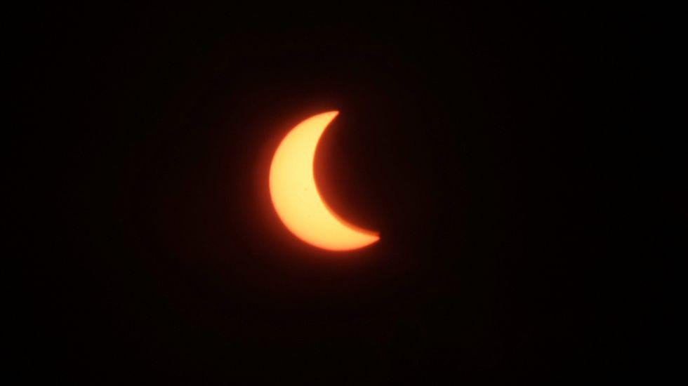 Así se vio el eclipse en Sulawesi.