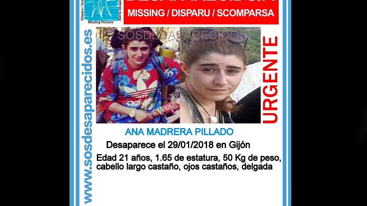 Cartel de SOS Desaparecidos de una chica desaparecida en Gijón