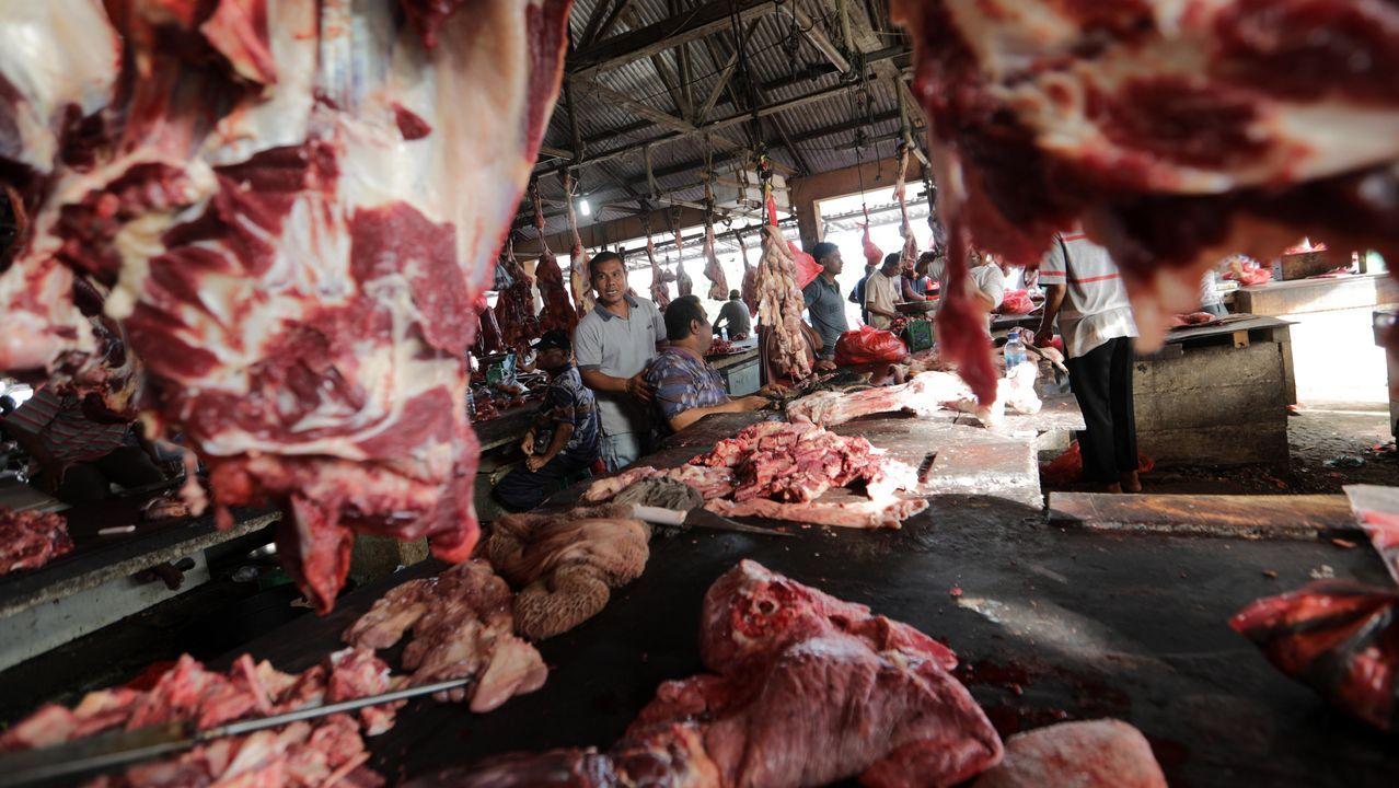 Mercado de carne en Indonesia