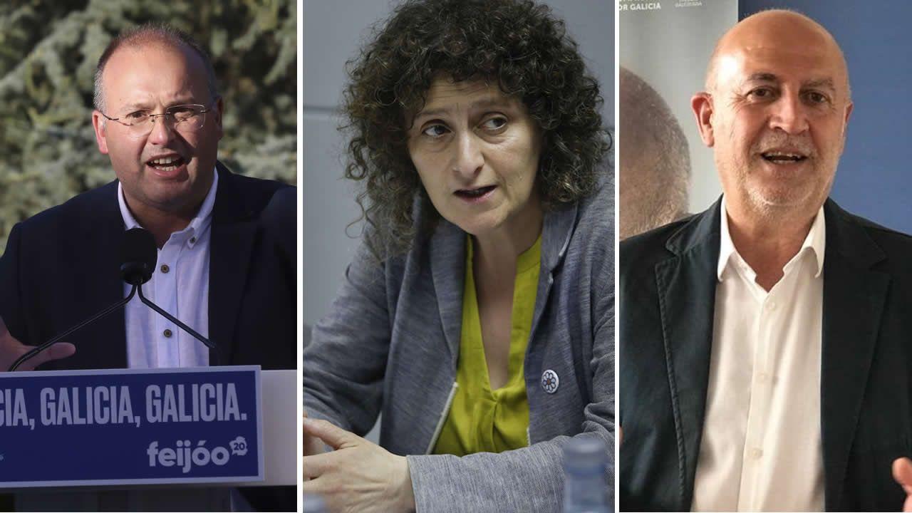 Así arrancó la undécima legislaturagallega.José Manuel Rey, festejando los resultados en la sede del partido en Ferrol