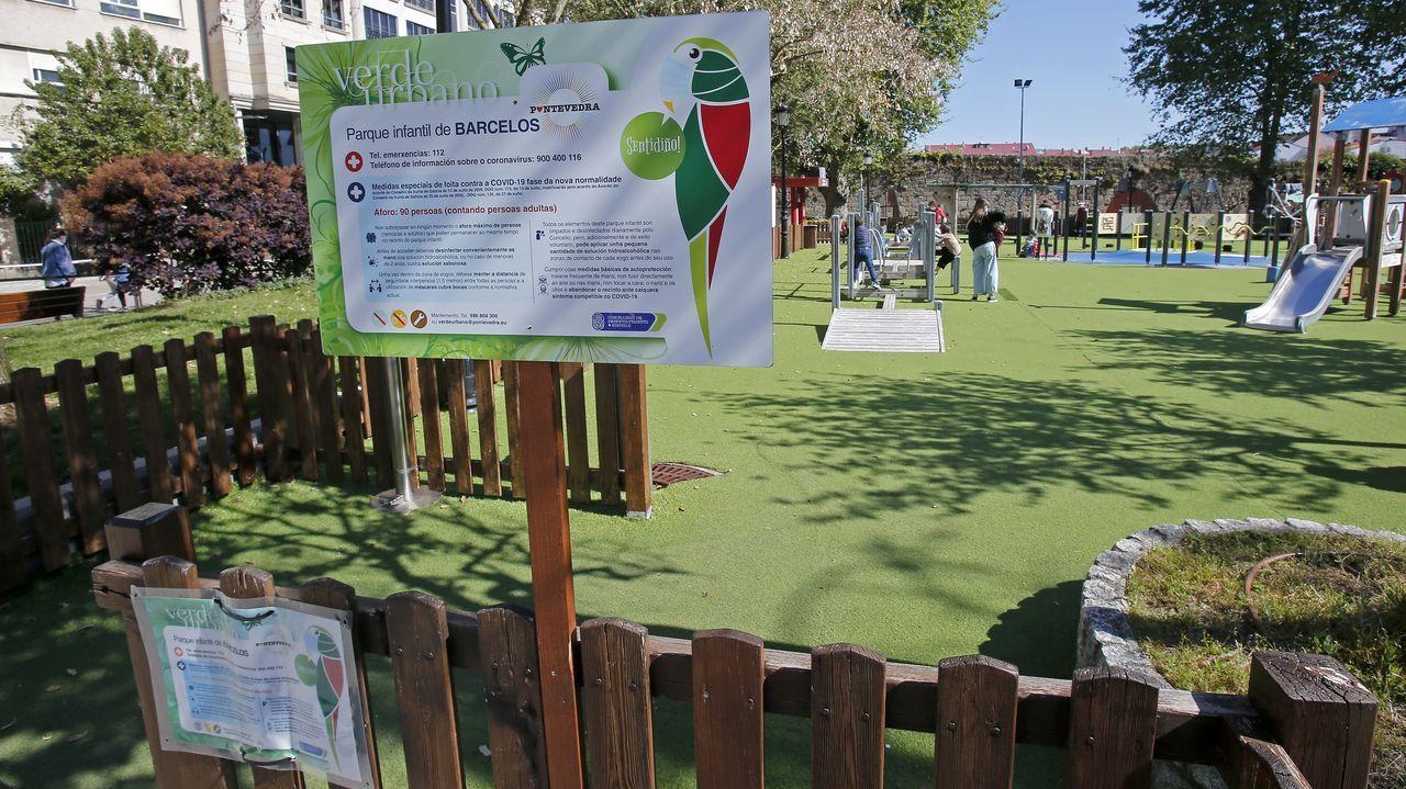 Parque infantil de Barcelos, en Pontevedra