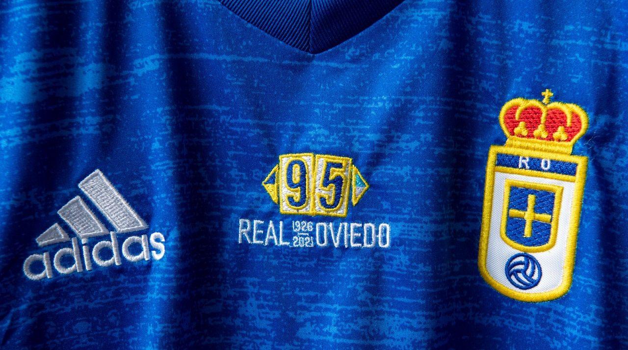 gol Nieto Real Oviedo Lugo Carlos Tartiere.Camiseta conmemorativa por el 95 aniversario del Real Oviedo